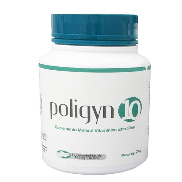 Poligyn 10 Suplemento Mineral Vitaminico Para Cães C/30 Comprimidos