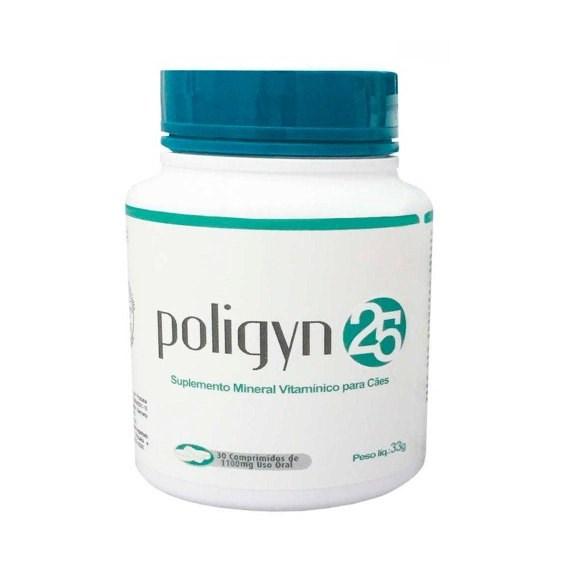 Poligyn 25 Suplemento Mineral Vitaminico P/ Caes C/ 30 Comp.