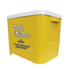 Porta Ração Tudo de Bicho Amarelo - 15kg