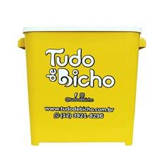 Porta Ração Tudo de Bicho Amarelo - 6kg