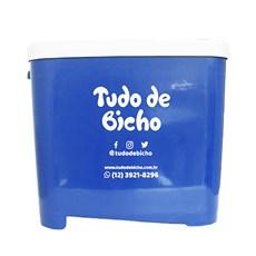 Porta Ração Tudo de Bicho Azul - 15kg