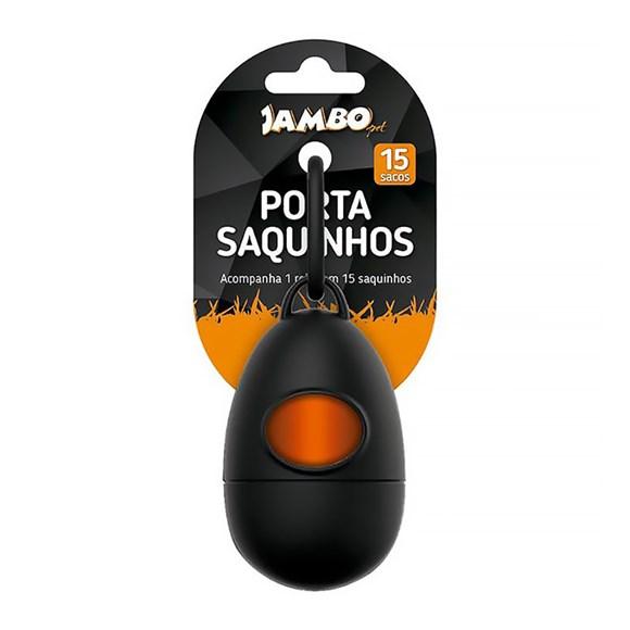 Porta Saquinhos Jambo P/ Cata Caca C/ 1 Rolo Friend Preto