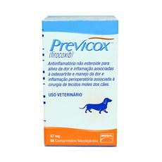 Previcox Anti-inflamatório Para Cães 57mg C/ 60 Comprimidos