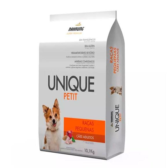 Ração Cães Unique Petit Adultos Raças Pequenas Frango e Tapioca - 10,1kg