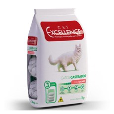 Ração Cat Excellence Adulto Castrado Salmão - 3kg