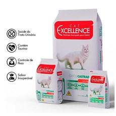 Ração Cat Excellence Adulto Castrados Carne - 3kg