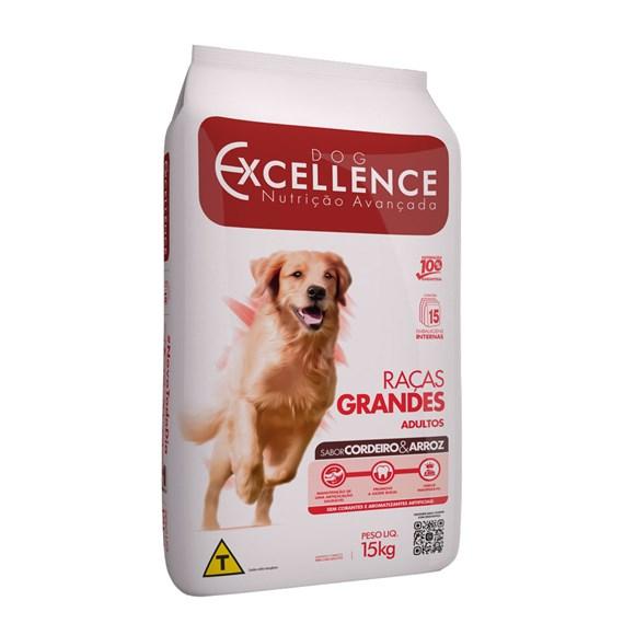 Ração Dog Excellence Adulto Raças Grandes Cordeiro e Arroz - 15kg
