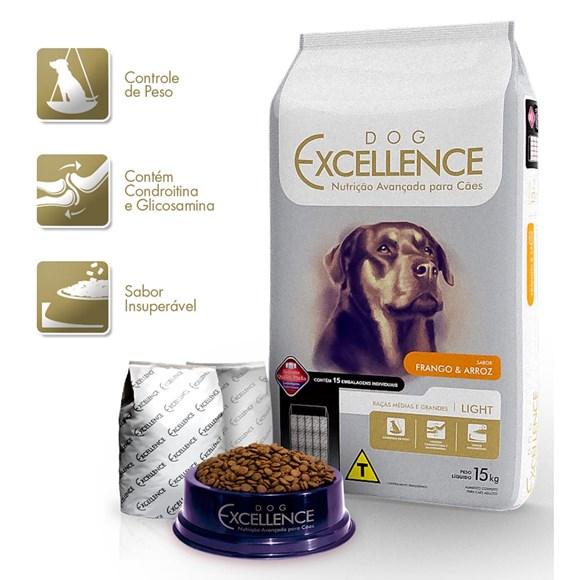 Ração Dog Excellence Light Raças Médias e Grandes - 15kg