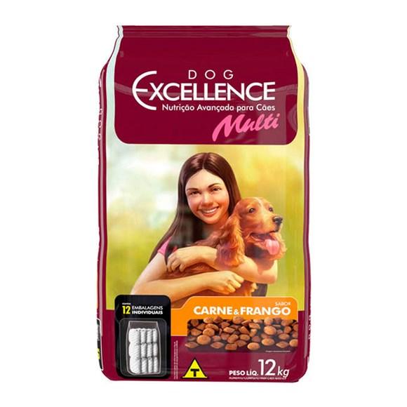 Ração Dog Excellence Multi Carne e Frango - 12kg