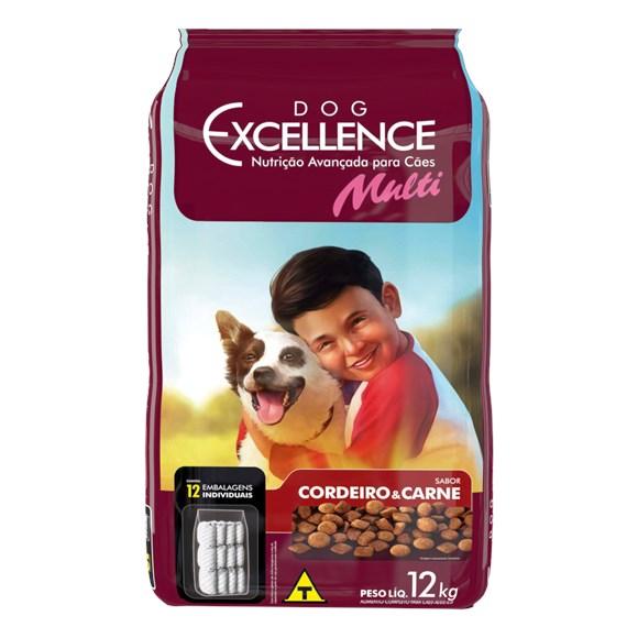 Ração Dog Excellence Multi Cordeiro e Carne - 12kg