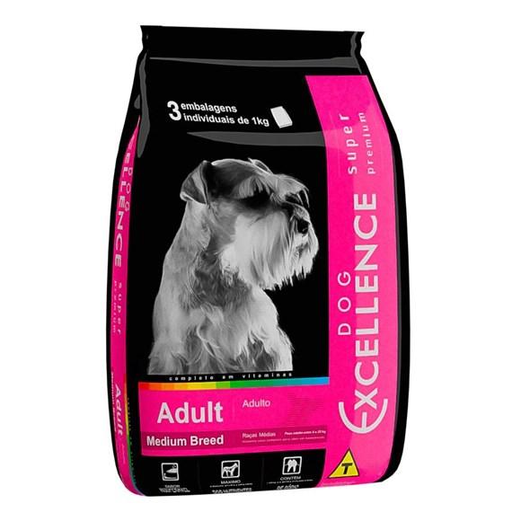 Ração Dog Excellence Super Premium Adulto Raças Médias - 3kg