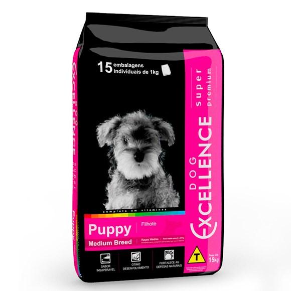 Ração Dog Excellence Super Premium Filhotes Raças Médias - 15kg