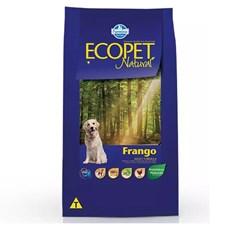 Ração Ecopet Natural Cães Adultos Frango
