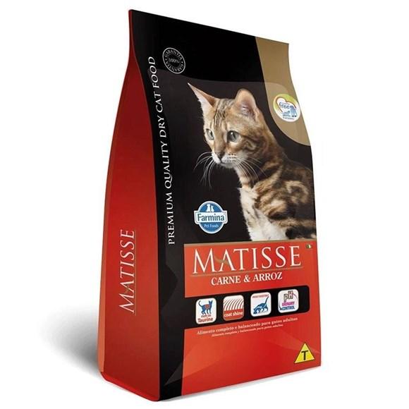 Ração Farmina Matisse Gatos Carne e Arroz