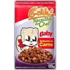 Ração Gatos Úmida Gatitus Baby Sabores da Carne - 85g
