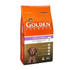 Ração Golden Carne E Arroz Mini Bits Cães Filhotes 10,1kg