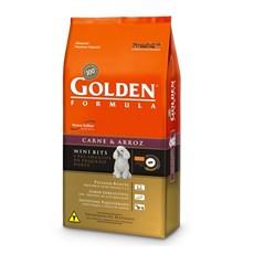 Ração Golden de Carne e Arroz Cães Adultos Mini Bits 3kg Premier Pet