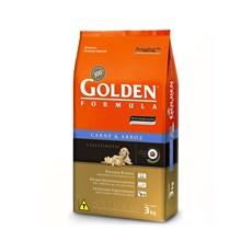 Ração Golden de Carne e Arroz p/ Cães Filhotes 3kg