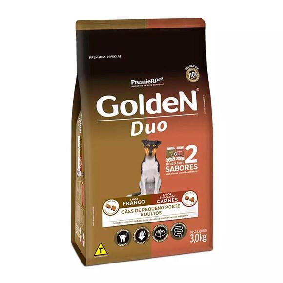 Ração Golden Duo Cães Adultos Pequeno Porte Frango e Seleção De Carnes