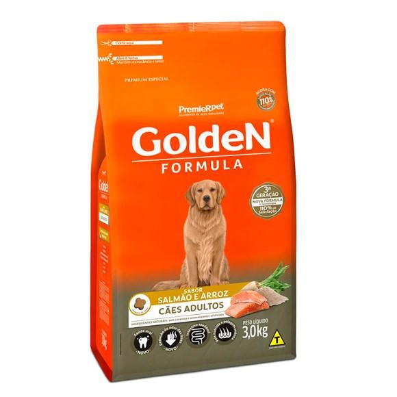 Ração Golden Fórmula Cães Adultos Salmão e Arroz