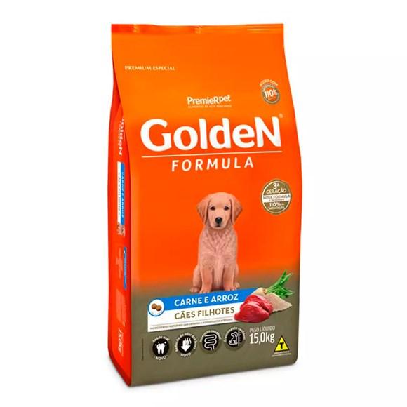 Ração Golden Fórmula Cães Filhotes Carne e Arroz
