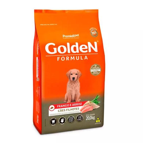 Ração Golden Fórmula Cães Filhotes Frango e Arroz