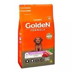 Ração Golden Fórmula Cães Filhotes Mini Bits Carne e Arroz