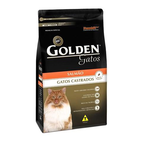Ração Golden Gato Adulto Castrado - Salmão 10,1kg - Premier Pet