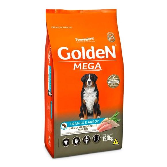 Ração Golden Mega Cães Adultos Frango e Arroz