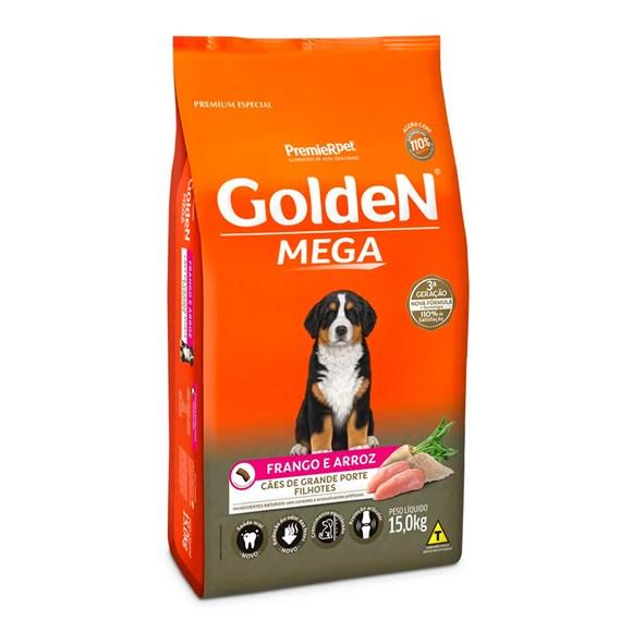 Ração Golden Mega Cães Filhotes Frango e Arroz
