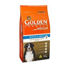 Ração Golden Mega Para Cães Adultos De Grande Porte 15kg