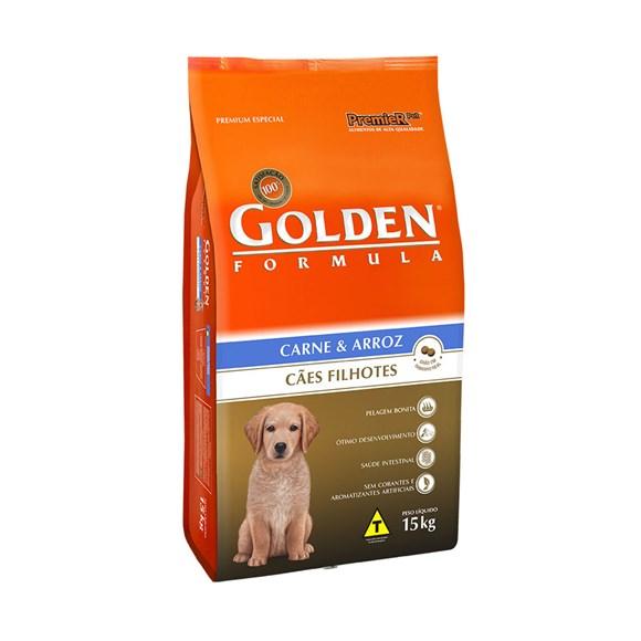 Ração Golden Para Cães Filhotes Carne 15kg