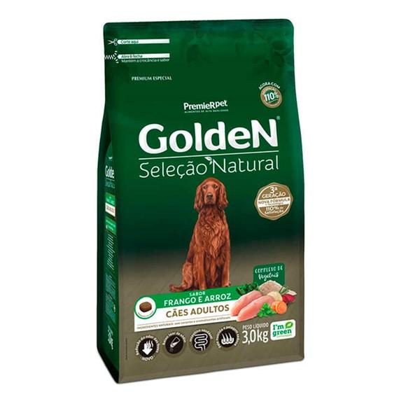 Ração Golden Seleção Natural Cães Adultos Frango e Arroz