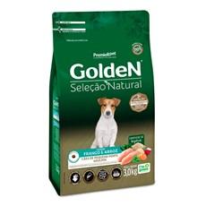 Ração Golden Seleção Natural Cães Adultos Mini Bits Frango E Arroz