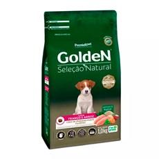 Ração Golden Seleção Natural Cães Filhotes Mini Bits Frango e Arroz