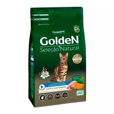 Ração Golden Seleção Natural Gatos Castrados Abóbora e Alecrim