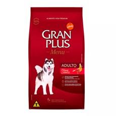 Ração Gran Plus Cães Menu Adultos Carne e Arroz - 15Kg
