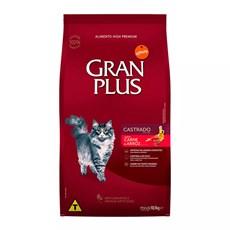 Ração Gran Plus Gatos Castrados Carne e Arroz - 10,1Kg
