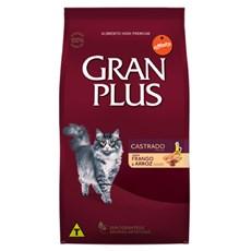 Ração Gran Plus Gatos Castrados Frango e Arroz - 10,1Kg