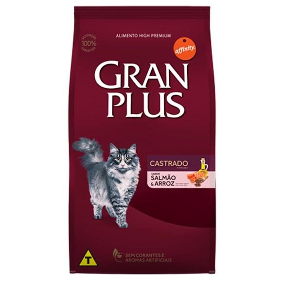 Ração Gran Plus Gatos Castrados Salmão e Arroz - 10,1Kg