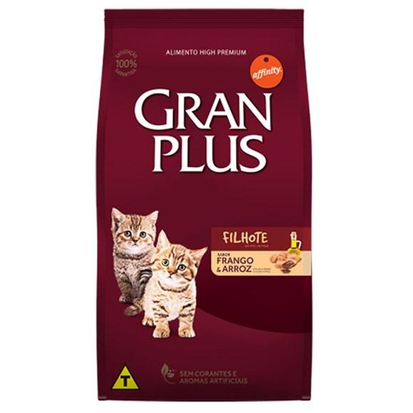 Ração Gran Plus Gatos Filhotes Frango e Arroz - 10,1Kg