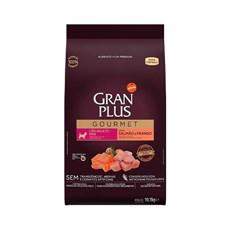 Ração Gran Plus Gourmet Cães Adultos Raças Mini Salmão e Frango - 10,1Kg