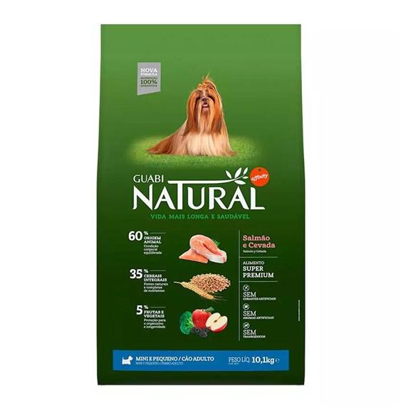 Ração Guabi Natural Cães Adultos Mini e Pequeno Salmão e Cevada - 10,1Kg