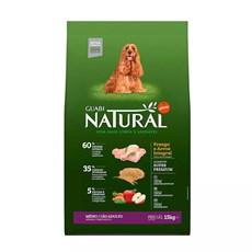 Ração Guabi Natural Cães Adultos Raças Médias Frango e Arroz Integral - 15Kg