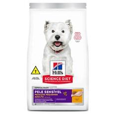 Ração Hill's Cães Adultos Pele Sensível Pedaços Pequenos – 2,4kg