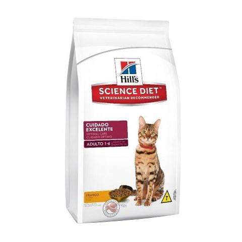 Ração Hill's Para Gatos Adultos Cuidado Excelente 500g