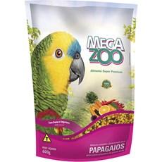 Ração Megazoo Extrusada Papagaios Frutas e Legumes - 600g
