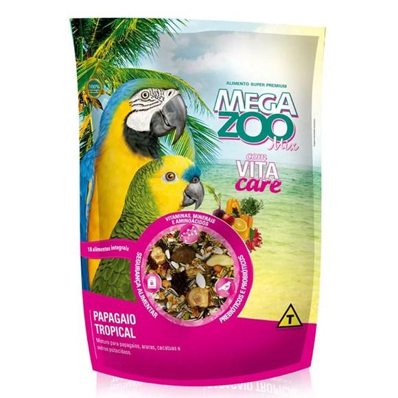 Ração Megazoo Mix Papagaio Tropical - 700g