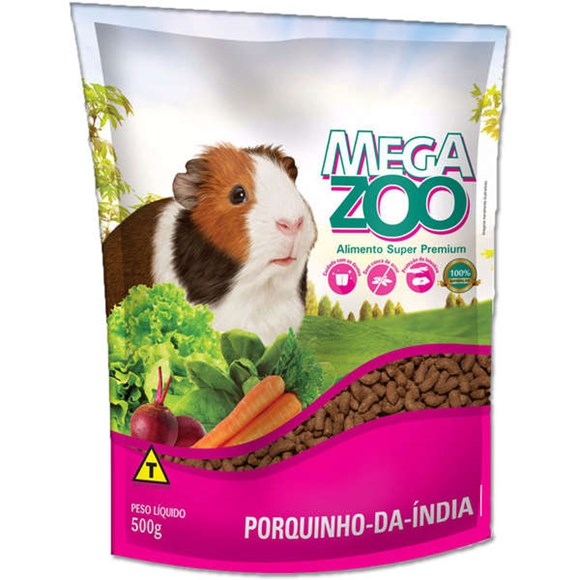 Ração Megazoo Porquinho da India - 500g