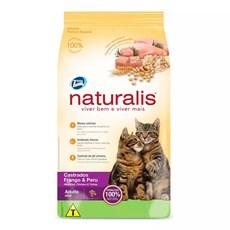 Ração Naturalis Gatos Adultos Castrados Frango E Peru - 10,1kg